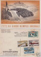 # CORTINA: 1956 -VII GIOCHI OLIMPICI - TRAMPOLINO ITALIA- AFFRANCATURA AL VERSO