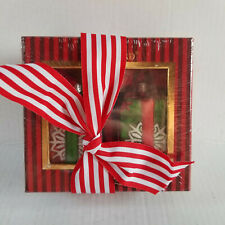 Sealed New WATERFORD Snowflake Gift Box Ornament - Set of 2 - Red & Green
