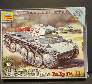 Zvezda 1/100 German WWII PzKpfw II Light Tank