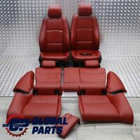 BMW E92 LCI Heated M Sport Red Leather Interior Seats Memory With Door Cards