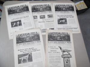 1928 AMERICAN FIELD Sportsman Magazine Lot Hunting Fishing Dog Magazine Vintage