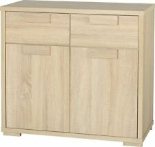 Cambourne Sonoma Limed Oak Chunky 2 Drawer 2 Door Small Sideboard