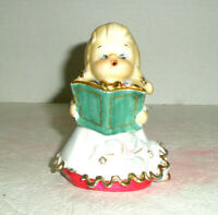 Vintage LEFTON Choir Girl Angel Bell Puppy Peeks From Gown