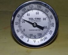 "NEW Tel-Tru GT-300 Thermometer 3"" Face Back Connected 1/2"" MNPT  F & C Stainless"