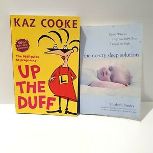 Up the Duff & The no-cry Sleep Solution Pregnancy & Baby Parenting X2 Books