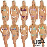 Urban Beach Ladies Halter Neck Tie Bikini Swimwear Set Sizes 8 10 12 14 16