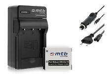 Batterie + Chargeur EN-EL19 pour Nikon Coolpix S4200 S4300 S4400 S5200 S5300