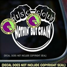 DISC GOLF CHAIN Frisbee Game Car Window Laptop Sign Vinyl Decal Sticker