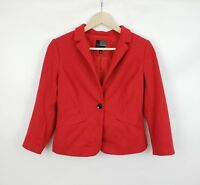 THE LIMITED Womens Red Polka Dot Career Blazer Size Small