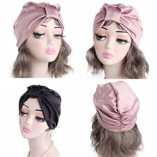100 Pure Silk Sleep Hats Wrap Night Cap Hair Care Bonnet Women s Hat f669fc456ffc