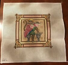 Melissa Shirley Hand Painted Needlepoint Canvas Monkey Playing Flute 12 x 12 New