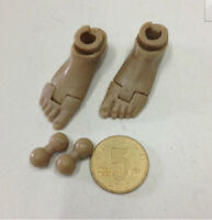 """1:6 Scale Soldier Toy Accessory bare feet connector For 12"""" Action Figure Body"""