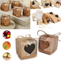 New 10Pcs Kraft Paper Box Wedding Favor Candy Gift Party Supplies Craft Box