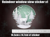 REINDEER VIEW christmas Sticker funny cute decoration tinsel jingle XMAS BAUBLE