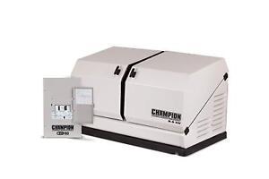 Champion 8.5KW 439cc Standby Generator w/ 50amp Transfer Switch #100174