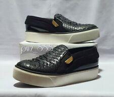 LOUIS VUITTON Snakeskin Slip-On Women's Sneakers Size 36 1/2 EUR