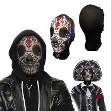 Lycra Spandex Zentai Face Mask Sugar Skull Dia De Muerto Halloween Costume Party