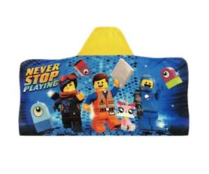 LEGO Movie 2 Hooded Bath Towel Wrap 100% Cotton Kids Toddler 24x50 Beach NEW
