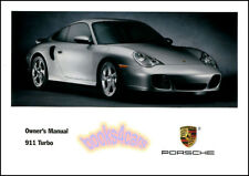 911 TURBO 2003 PORSCHE OWNERS MANUAL BOOK 996 HANDBOOK
