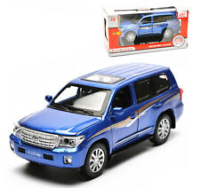 Toyota Land Cruiser 200 Diecast Model Car Sound Light Pullback Blue New in Box