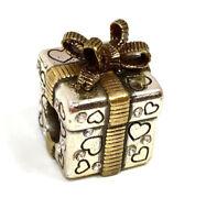 Brighton Gift Box Stopper Bead J95142 Silver/Gold Finish, New