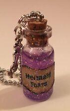 Mermaid Tears Handmade Glass Potion Bottle Necklace