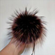 15cm Rot Blau,Grün 1Fellbommel Pelzbommel mit längeren Haaren