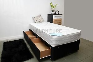 NEW ! 3ft Standard Single Divan Bed.Deep Quilt Or Orthopaedic Mattress Storage
