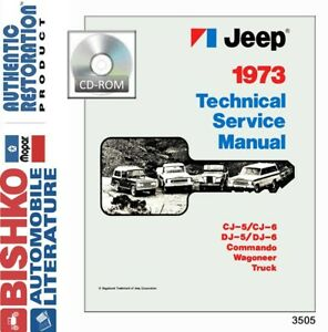 1973 Jeep Shop Service Repair Manual CD Engine Drivetrain Electrical Body Guide
