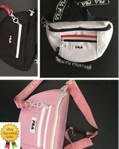 Fila Men Women Bag Waist cross-body bag Pack Bum Bag Zip Belt Sport Pouch Travel