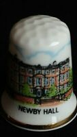 NEWBY HALL AND GARDENS PLAYGROUND TRAIN N YORKSHIRE FINE CHINA SOUVENIR THIMBLE