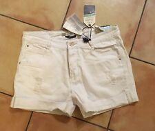 ZARA White Ripped Denim Shorts - size 14 - BNWT (rrp £29.95) -