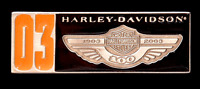 HARLEY DAVIDSON 100TH ANNIVERSARY TWO TONE 03 PIN **OBSOLETE ITEM ** SUPER RARE