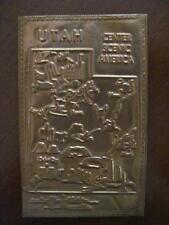 UT Scenic America Pictorial Map On UTAH Mined Copper Kopper Kard Postcard UNUSED