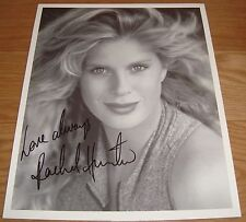 Rachel Hunter Signed B&W 8 X 10 Photo from late 1980s early 1990s
