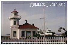 Mukilteo Lighthouse Washington, WA Light, Historic Place Ferry - Modern Postcard