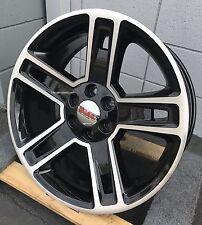 "24"" GMC Yukon Denali Wheels Rims TIRES Silverado Sierra Tahoe Black Machine New"