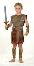 BOYS CENTURIAN ROMAN WARRIOR SOLDIER GLADIATOR FANCY DRESS COSTUME OUTFIT 7 9 11
