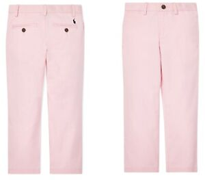 Ralph Lauren  Polo Boys Cotton Twill Chino Pants Spring II Pink Size 16
