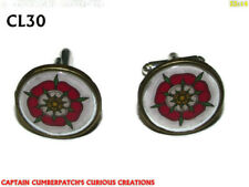 steampunk cufflinks bronze Yorkshire Lancashire war tudor rose  #CL30