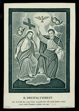 santino incisione 1800 SS.TRINITA'