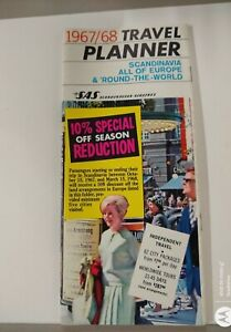 1967-68 SAS Scandinavian Airlines Travel Planner City Packages And World Tours
