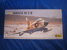 AA235 HELLER MIRAGE III C/B Ref 80411 1/48 BON ETAT