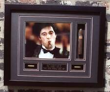 SCARFACE WITH  CIGAR & BULLETS FRAMED 16X20