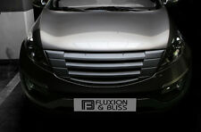 Front Hood Tuning Radiator Grill Matte Black 1p For 11 12 13 14 15 Kia Sportage