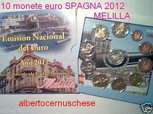 2012 SPAGNA 10 monete 7,88 euro Espagne Spain España Spanien MELILLA Испания