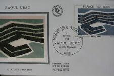 ENVELOPPE PREMIER JOUR SOIE 1980 RAOUL UBAC