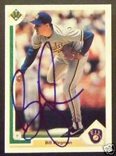 Bill Wegman Milwaukee Brewers 1991 Upper Deck Signed Card