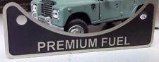 Land Rover USA Schutz V8 Premium Benzin Kraftstoff Einfüllstutzen Label Emblem