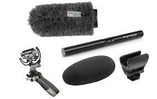 Sennheiser MKE600 Shotgun Mic Kit w/ Rycote Softie & Pistol Grip Shock Mount